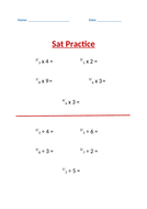 SATs Revision sheets for Maths - Year 6