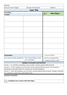 Marking and Feedback grid