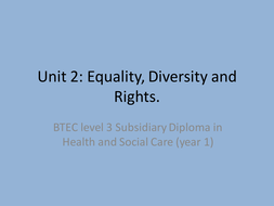 health and social care level 3 unit 2 p3