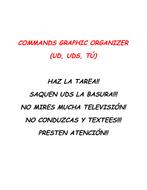 Spanish commands: Usted, Ustedes, Tu
