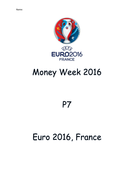 Euro 2016 Money Week 2016 Tasks