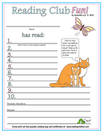 Spring Sound of 'I' Reading Log and Certificate Set