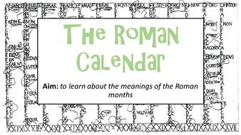 Roman Calendar.Ks2 The Roman Calendar Pack