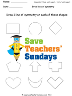 line of symmetry ks1 worksheets lesson plans powerpoint and plenary