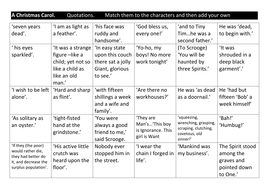 a christmas carol starter exercise match the quotes to the character