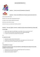 igcse french writing practice paper by anyholland teaching