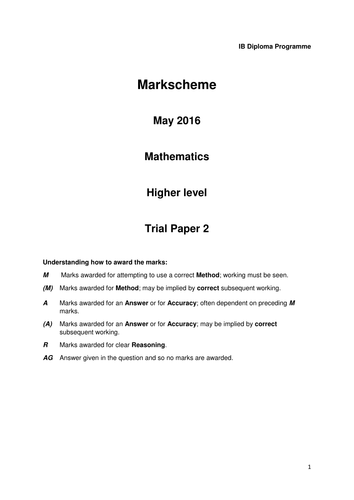 IB HL Maths Practice Exams May 2016 by bgm2016 - Teaching ...