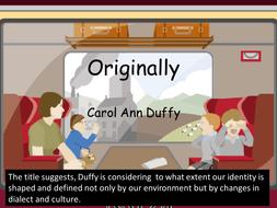 originally carol ann duffy poem