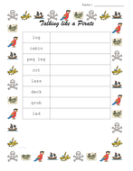 Talk like a pirate - voab cards with their meanings