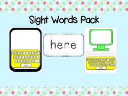 Dolch Sight Words - Practice, Recall, Recognition - Tablet / Computers