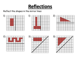 reflections worksheetspptx - Reflection Worksheet