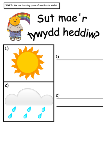 Y Tywydd Worksheets Flash Cards And Help Mat By