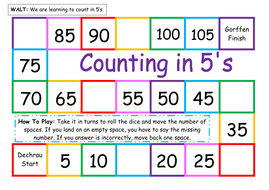 counting in 5s by twinklestar68 teaching resources. Black Bedroom Furniture Sets. Home Design Ideas