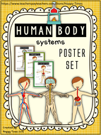 Science HUMAN BODY SYSTEMS Display Posters