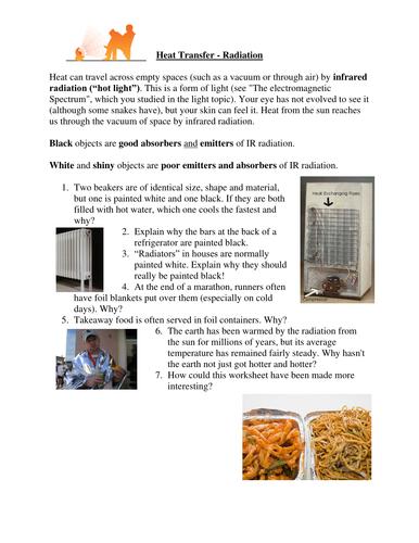 Heat transfer worksheets by simoninpng - Teaching Resources - TES