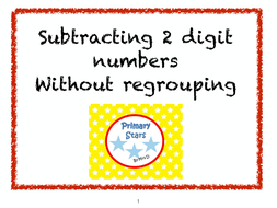 subtracting two digit numbers without regrouping by primarystars  worksheet pdf  kb subtractingdigits