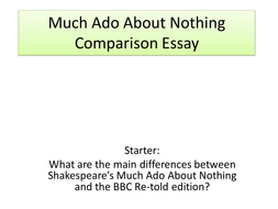 much ado about nothing essay notes Literature notes much ado about nothing essay questions table of contents all subjects play summary about much ado about nothing critical essays.