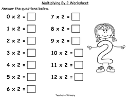 Multiply By Two Year 2 Powerpoint Presentation And Worksheet By