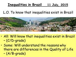 Inequalities in Brazil - Variations in economic development