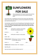 SUNFLOWERS---MATHS---For-Sale---Money.docx