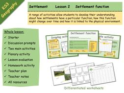 KS3 Geography - Settlement - 2 - Settlement function