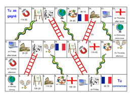 FRENCH - School Subjects - Les Matières Scolaires BOARD GAMES