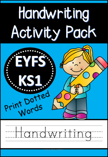handwriting activity pack dotted print words for eyfs ks1 by uk teaching resources tes. Black Bedroom Furniture Sets. Home Design Ideas
