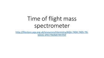 AQA Time of Flight Mass Spectrometer