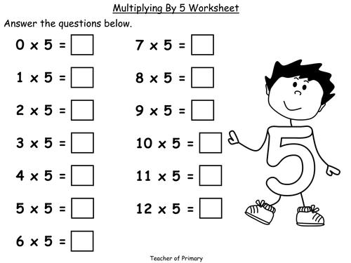 Multiplication Worksheets » Multiplication Worksheets X5 - Free ...