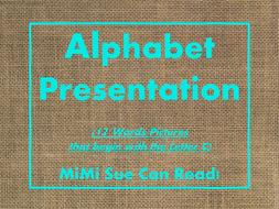 Letter C Alphabet PowerPoint Fun & Colorful Words w/Pictures (Expandable)