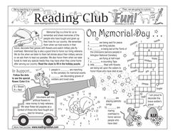 Memorial Day Two-Page Activity Set
