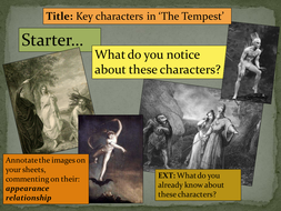 Ks3 The Tempest William Shakespeare Lesson 1 6 Teaching Resources