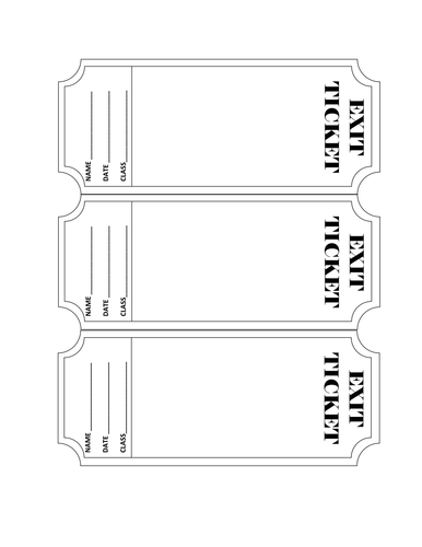 exit ticket clipart - photo #47