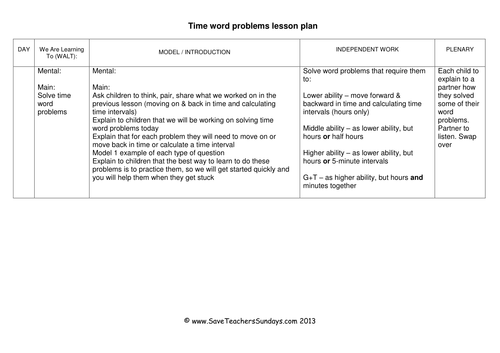 time word problems ks1 worksheets lesson plans powerpoint by uk teaching resources tes. Black Bedroom Furniture Sets. Home Design Ideas