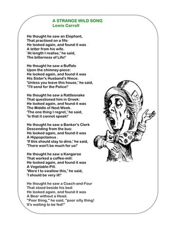 Jabberwocky Printable Poem by KS2History - Teaching ...