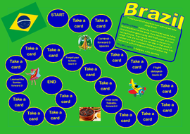 Brazil Board Game- Great for Olympics 2016 Topic or Geography Study.