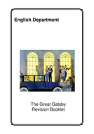 Great Gatsby revision booklet