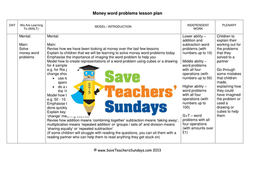 money word problems ks1 worksheets lesson plans and powerpoint and answer frame by. Black Bedroom Furniture Sets. Home Design Ideas