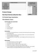 AQA 2016 PRODUCT DESIGN PRACTICE PAPER - Flat-pack charity collection boxes