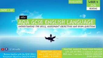 New GCSE English Language Skills UNIT, AO4 EVALUATE, Paper 1 Question 4
