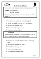 The Apostrophe of Possession - Literacy Worksheet