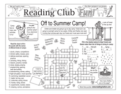 Summer Camp Two-Page Activity Set