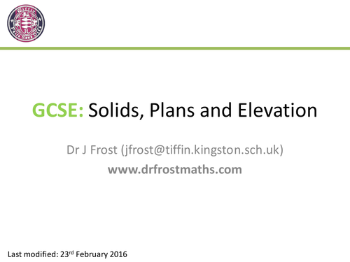 Plan Elevation Tes : Solids plans and elevation by uk teaching resources tes