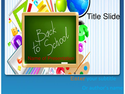 Back to school ppt template by templatesvision teaching resources back to school ppt template toneelgroepblik Choice Image
