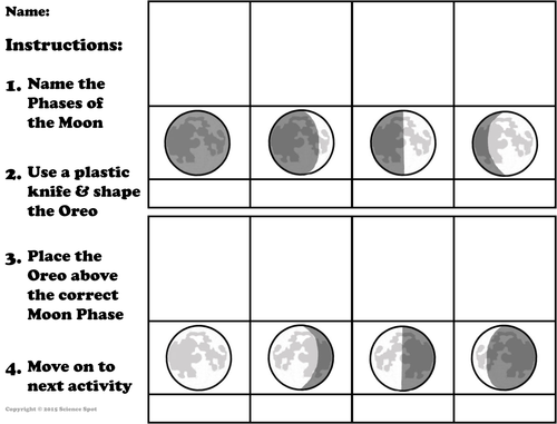Moon Phases by ScienceSpot Teaching Resources Tes – Phases of the Moon Worksheets