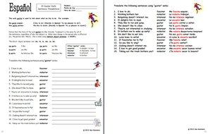 Spanish Gustar Verbs and Indirect Object Pronouns Worksheet by ...