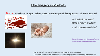 examples of imagery in macbeth