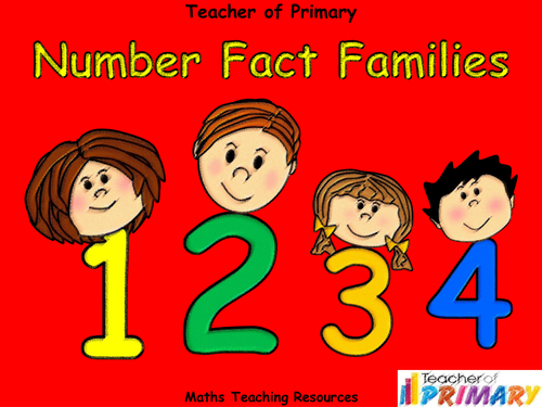 Number Fact Families Powerpoint Presentation And