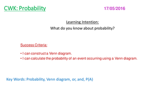 Venn diagrams and probability new gcse by bradders21 teaching venn diagrams and probability new gcse ccuart Images