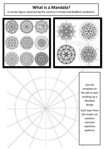 designing a mandala by amiebarnard teaching resources tes. Black Bedroom Furniture Sets. Home Design Ideas